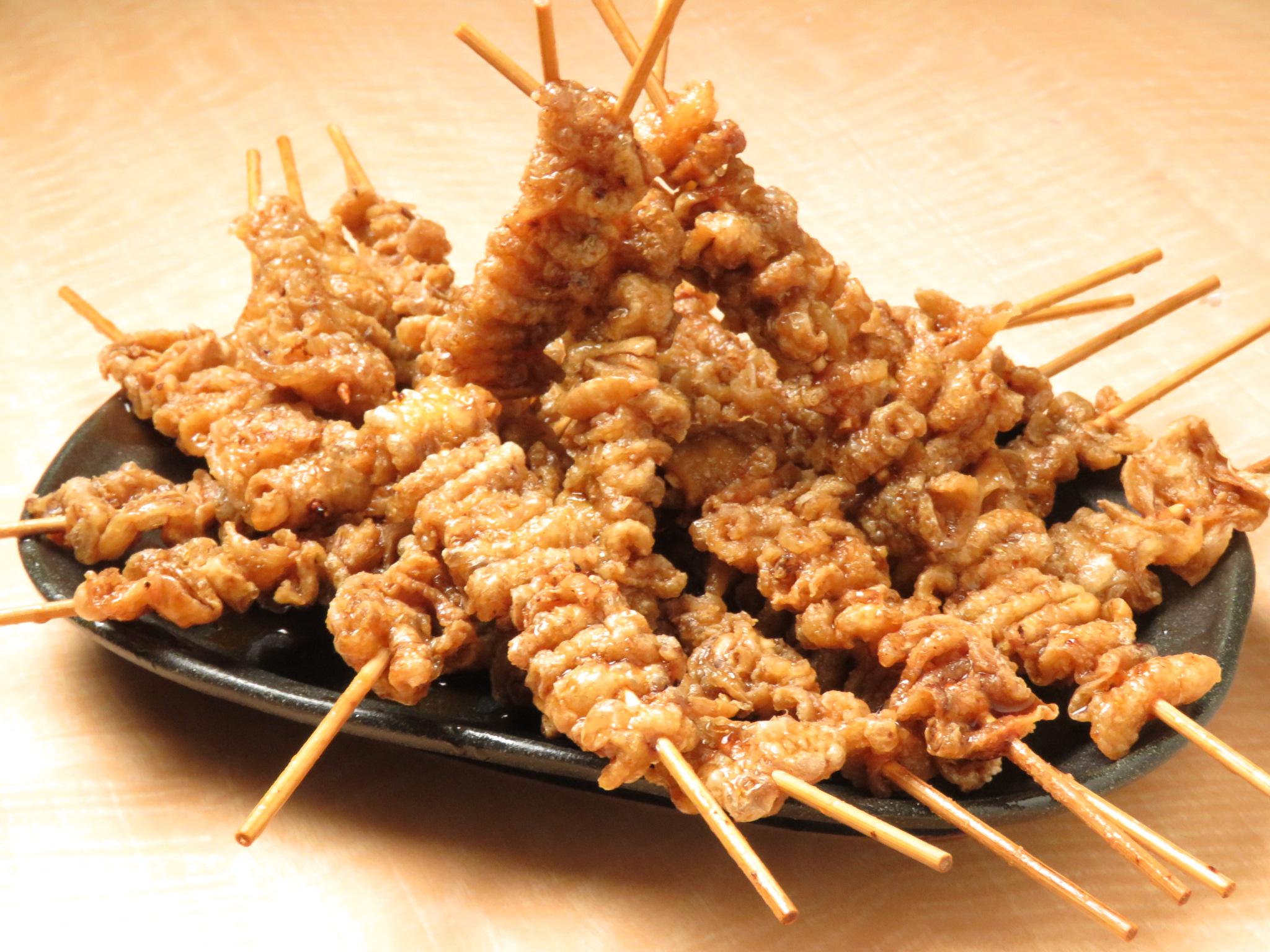 市川の鶏料理専門店[とりいちず]の絶品とり皮